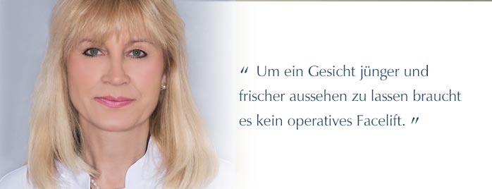 Facial Lifting - Facelift ohne OP - Dr. Maria Hörmann