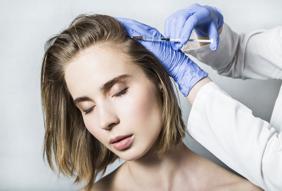 Botox bei schmerzender Kopfhaut