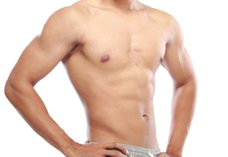 Die Operation auf der Brust für die Männer
